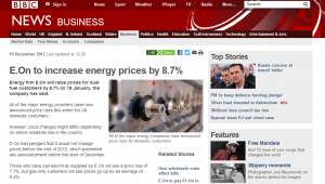 Picture of BBC energy price rises