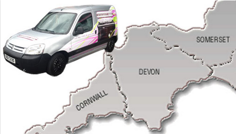 Areas covered by Range Experts including South West map and image of Range Experts van
