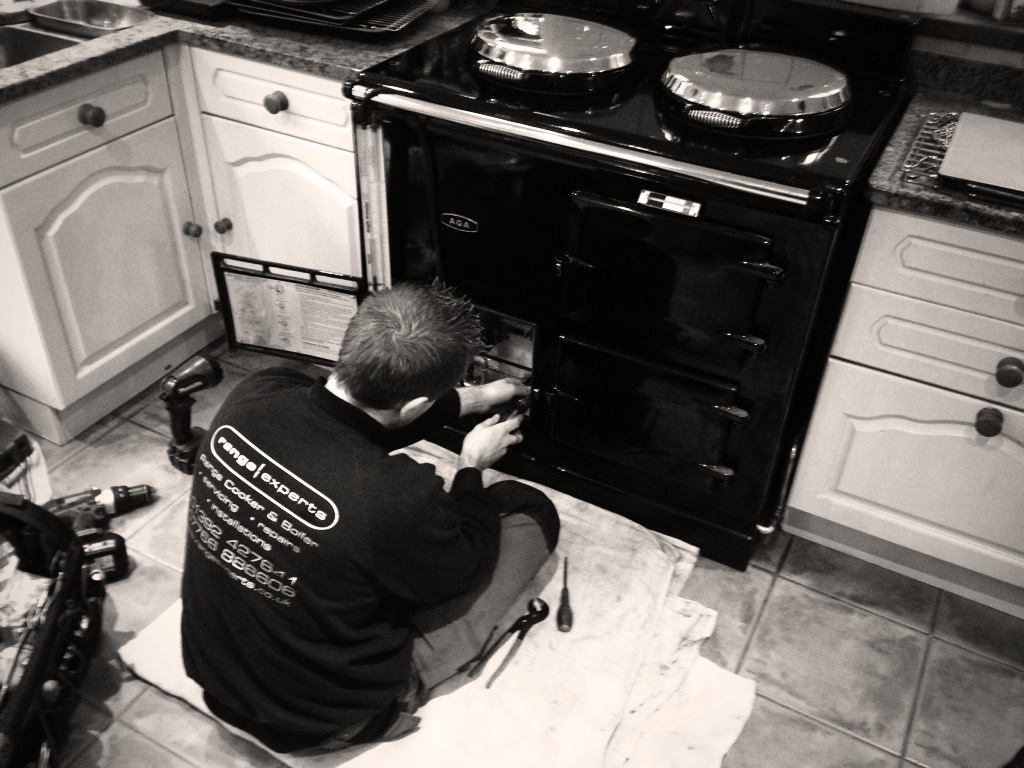 Range Experts servicing a gas Aga