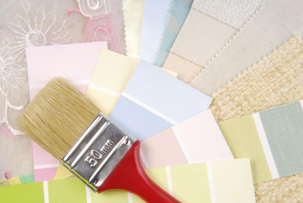 color pastel design  selection for interior